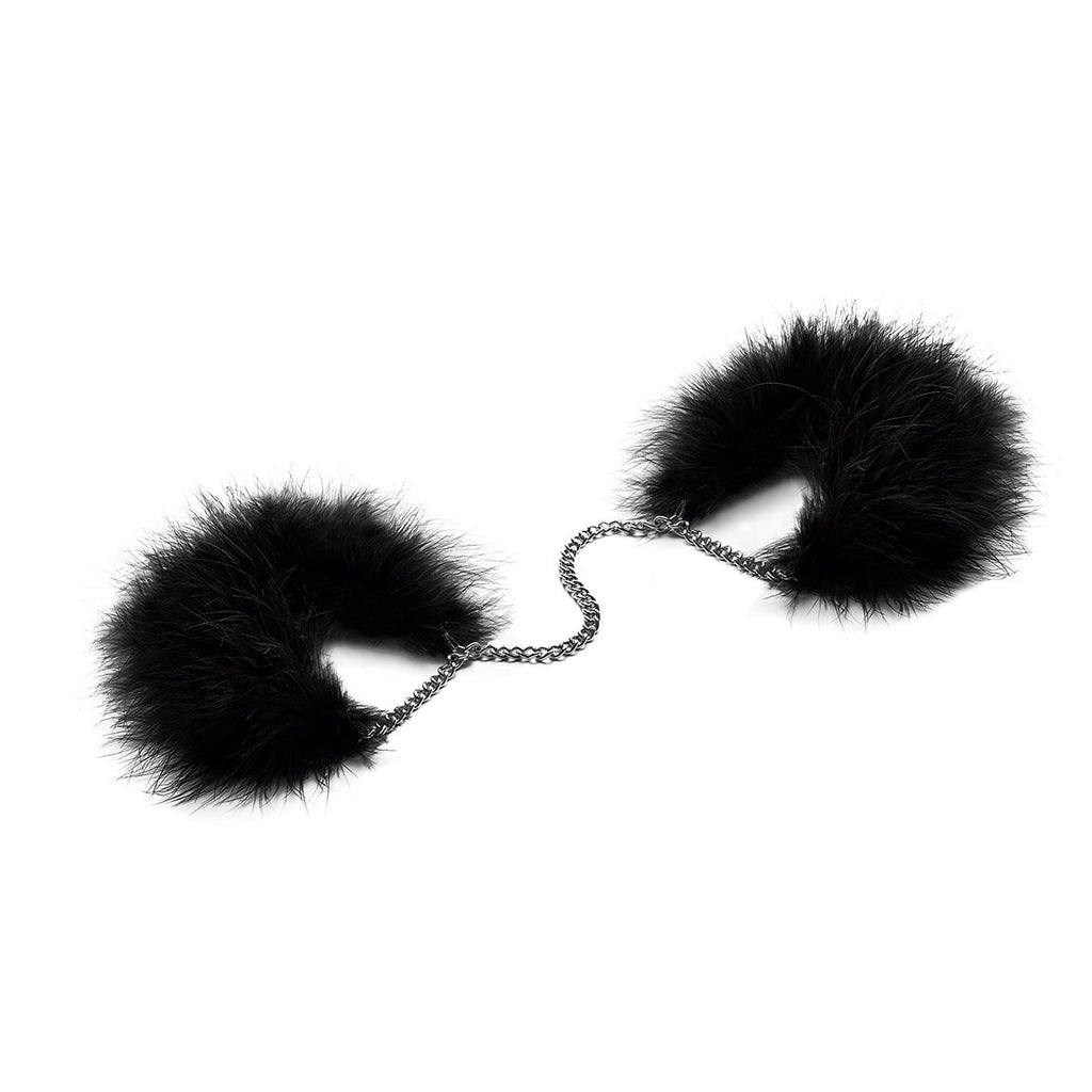 BIJOUX INDISCRETS ZA ZA ZU FEATHER CUFFS.