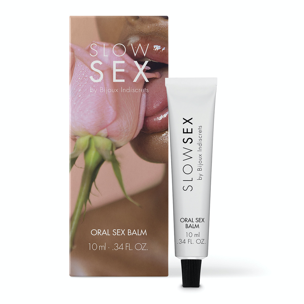BIJOUX INDISCRETS SLOW SEX ORAL SEX BALM .34OZ