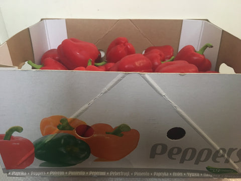 BOX OF RED BELL PEPPER