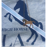 HIGH HORSE LA - HORSE SILHOUTTE NECKLACE - WHITE GOLD