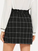 Luciana Belted Plaid Skirt