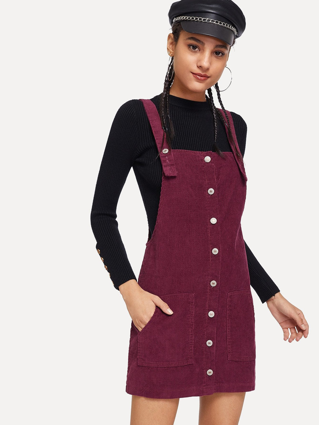 Cora Corduroy Overall Dress