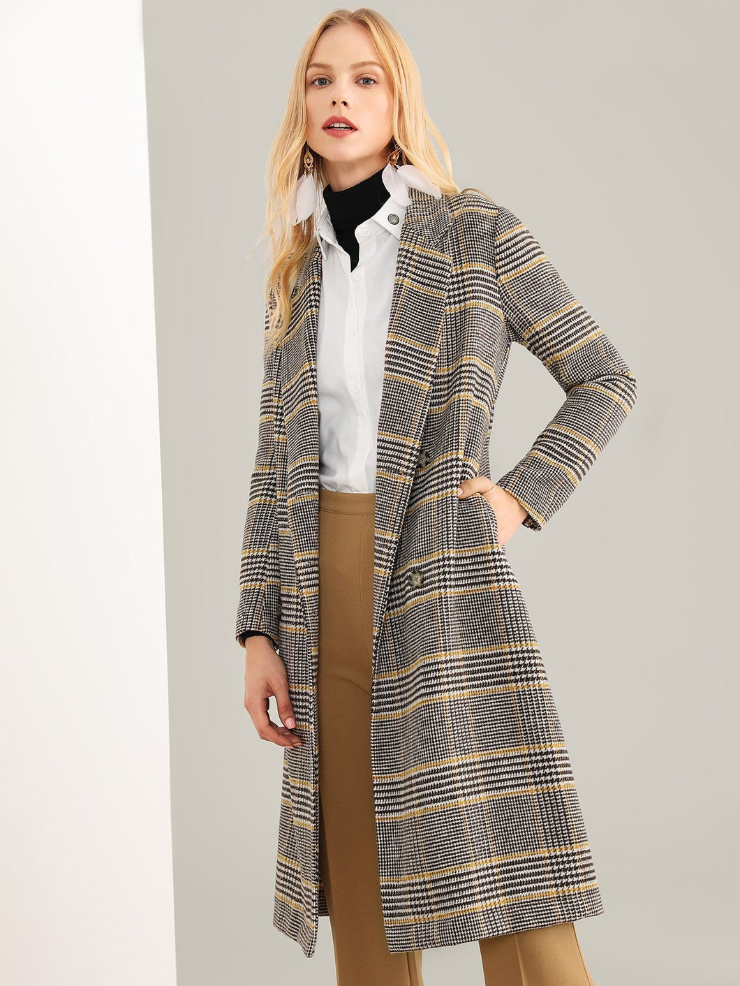 Petra Plaid coat