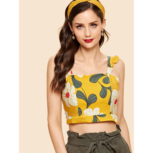 Floral in the Fifties Crop Top