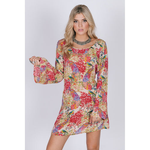Bird of Paradise Long Sleeve Dress