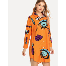 The Eyes Have It Shirt Dress