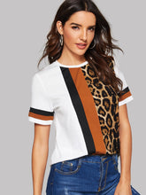 Lana Leopard Panel Top