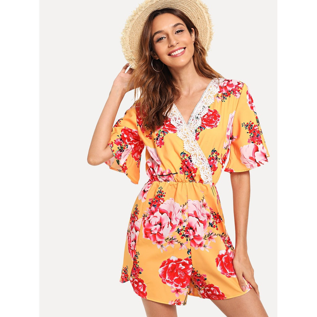 Floating Floral Romper
