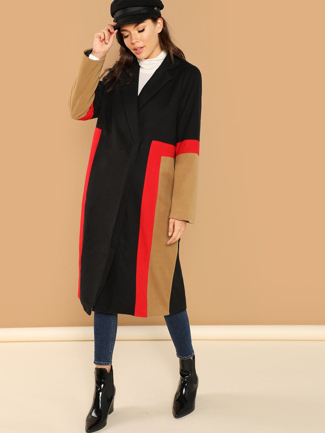 Cally Color Block Coat