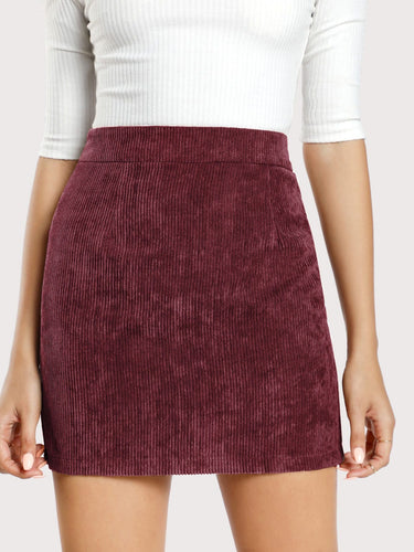 Cara Corduroy Bodycon Skirt