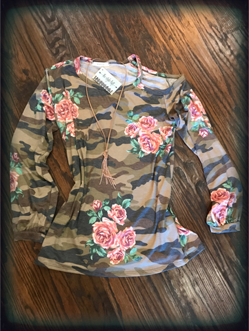 Camo One Cold Shoulder Tunic