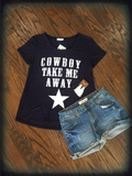 Cowboy Take Me Away Navy Tee
