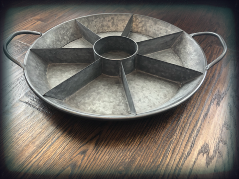 Round Divided Metal Tray