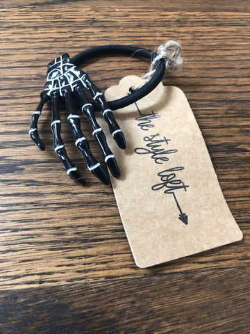 Skeleton Hand Hair Tie
