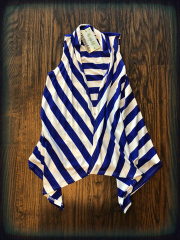 Cobalt Striped Vest