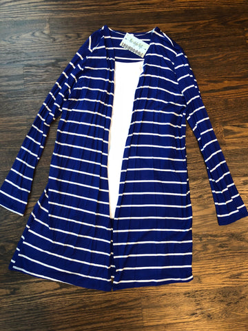 Royal Striped Cardigan