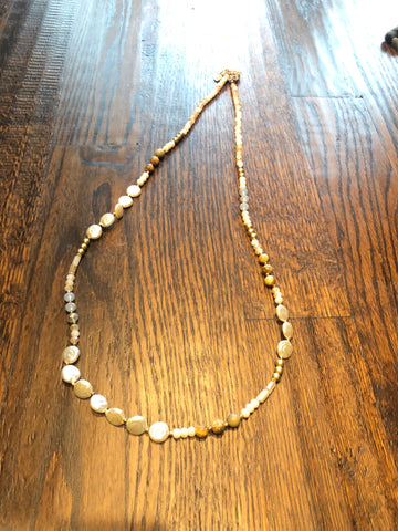 Stone & Pearl Necklace