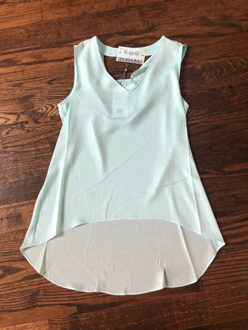 Aero Blue Scoop Back Sleeveless High Low