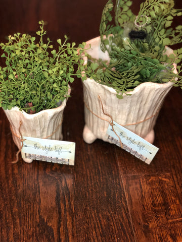Taupe greenery planter
