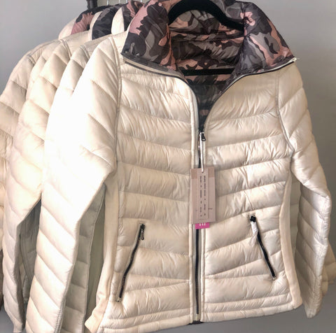 Milk Camo Reversible Puffer Jacket