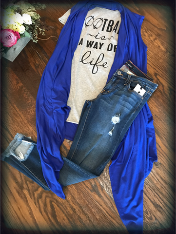 Dark High Low Cuff Jeans