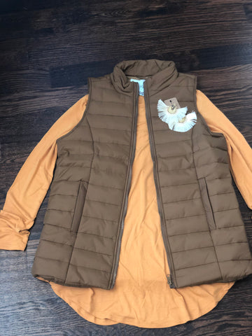 Coffee Quilted Vest