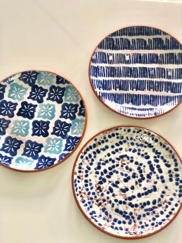 Blue & White Bungalow Plate