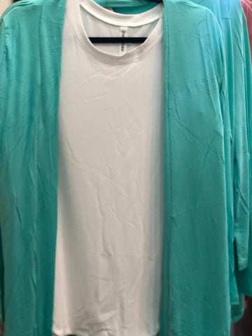 Mint Draped Cardigan