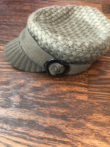 Olive Knitted Brim Hat