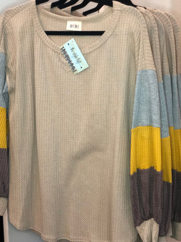 Heather Grey/Mustard/Mocha Thermal
