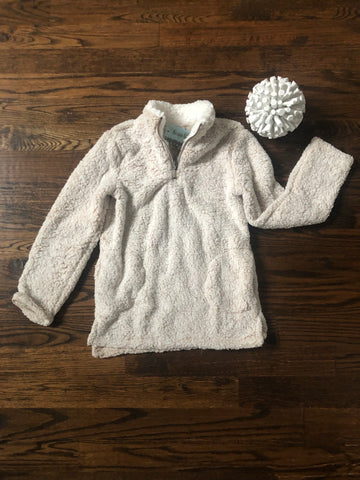 Oatmeal Plush 1/4 Zip