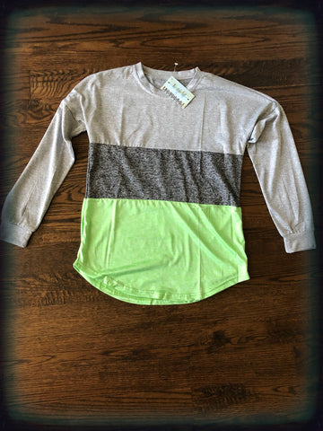 Grey/Green Color Block