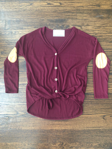 Burgundy buttoned down Knit Tunic