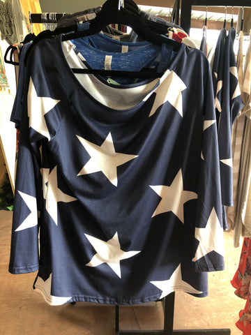 Navy Star Print Tunic