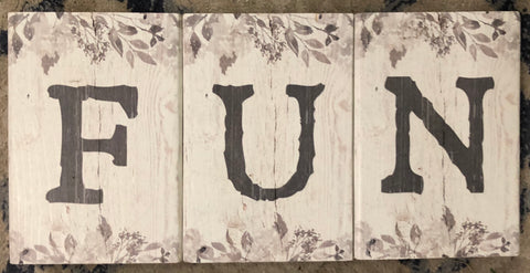FUN Wood Block Letters