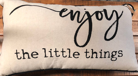 Canvas Pillow-Enjoy