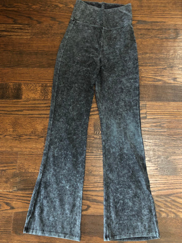 Mid Grey Mineral Wash Yoga Pants
