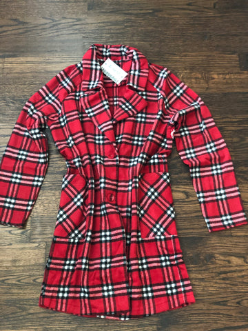 Red Plaid Long Jacket