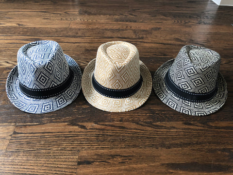 Black & White Aztec Fedora