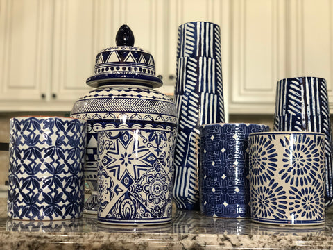 Indigo Ceramic Decor