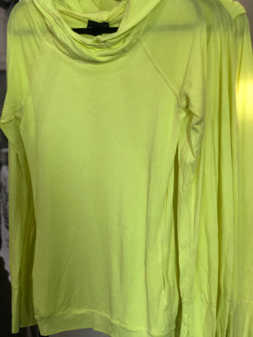 Neon Yellow Sleek Hoodie Top