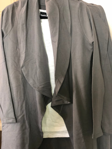 Grey Open Front Athleisure Cardigan