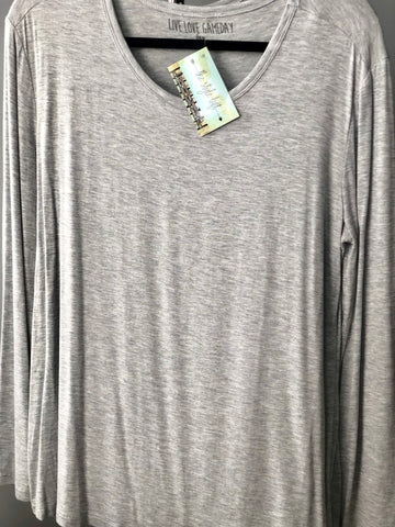 Heather Grey Long Sleeve Tee