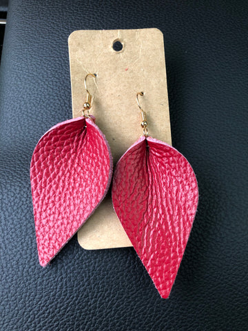 Red Boho Earrings