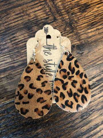 Cheetah Hide Earrings