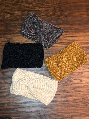 Chenille Knotted Headbands