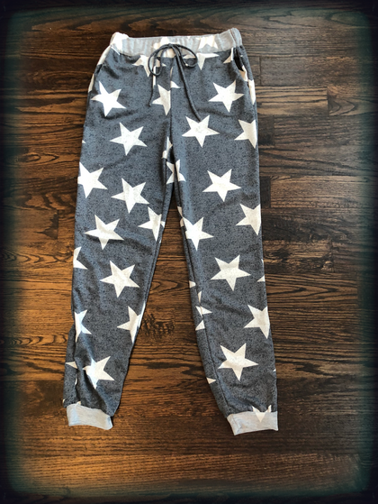 Star Printed Joggers