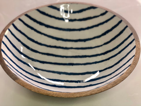 Bungalow Wood Enamel Bowl