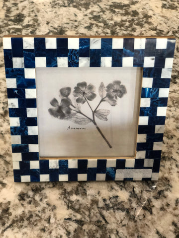 Blue & White Marble Inlay Frame