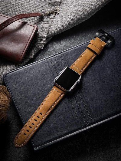 Vintage Waxed Leather Apple Watch Band